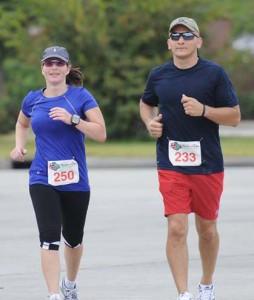 Me and Amanda Half Marathon