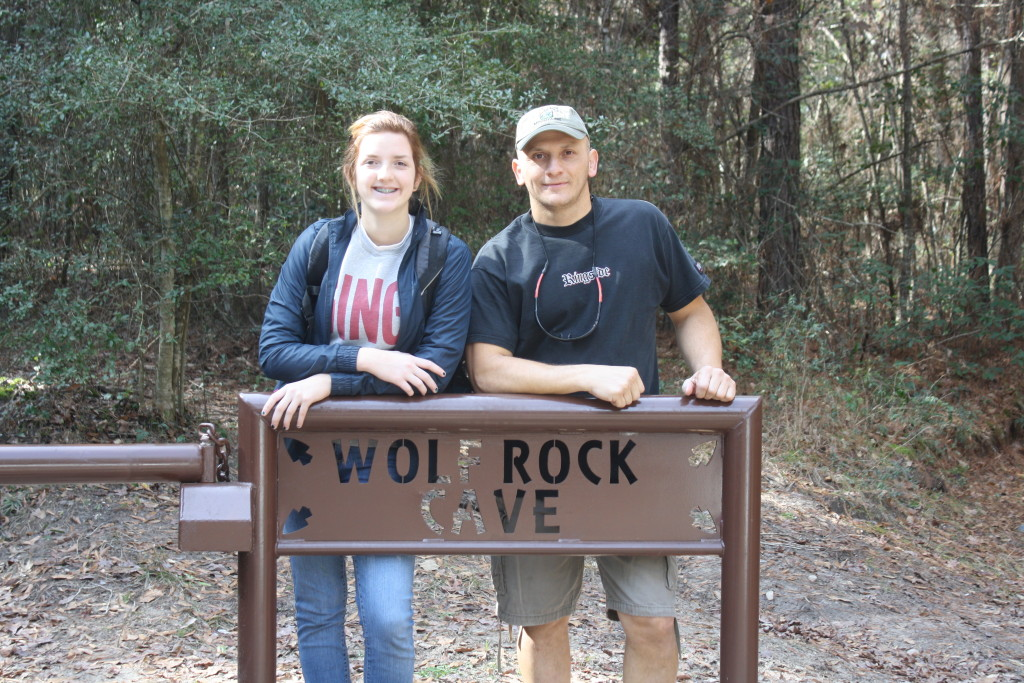 Me and Grace Wolf Rock Cave